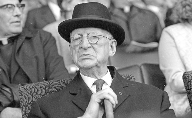 Changing times: Fifty years ago, Éamon de Valera's speech on the 50th anniversary of the first Dáil was 'often inaudible'