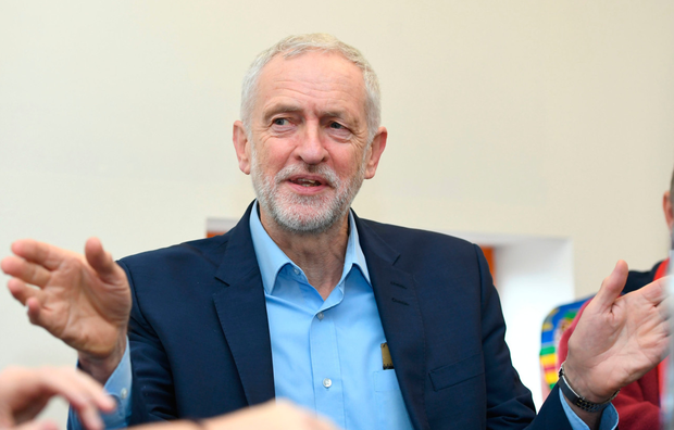 Vision: Labour leader Jeremy Corbyn on a visit to Derbyshire yesterday. Photo: PA