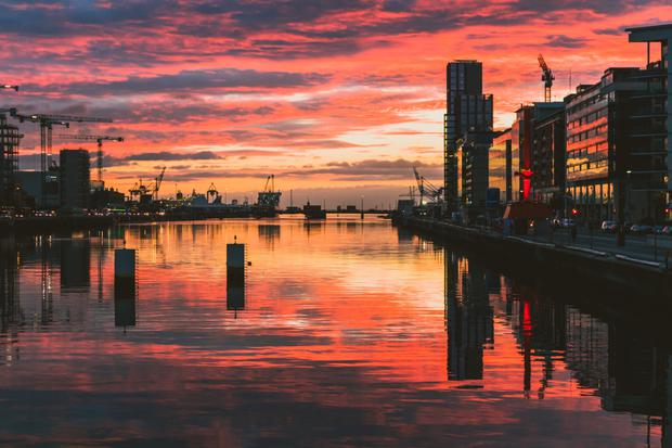 Opportunity: A view down the River Liffey towards Dublin Port. Access to international markets will be key after Brexit.