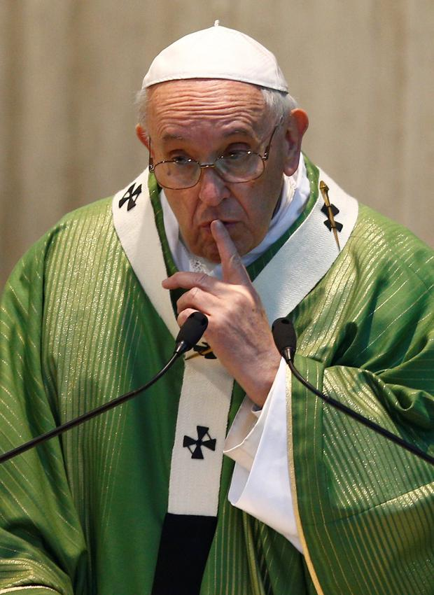 Striking right note: Pope Francis addressed the 'evil' of the sexual abuse scandal in his final speech of his Vatican summit. Photo: Reuters