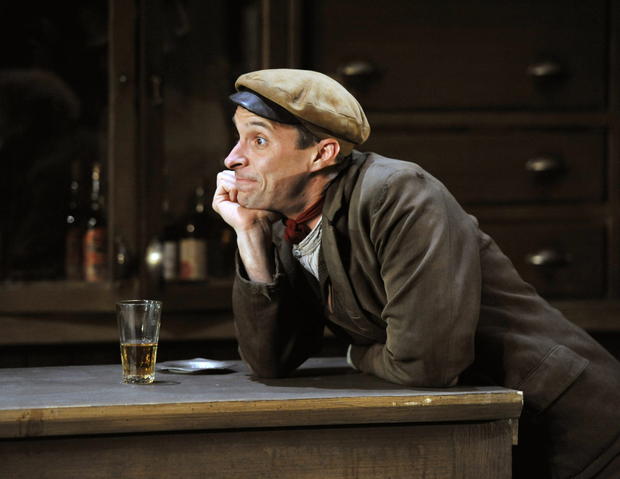 Tom Vaughan-Lawlor as The Covey, the ideological socialist in Sean O'Casey's 'The Plough and the Stars'
