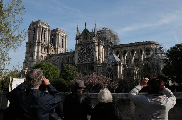 Valued: The fire at Notre-Dame Cathedral illustrates how history and heritage are so important to 21st-century civilisation. Photo: PA