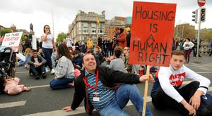 Thousands of people attended the housing protest in Dublin last Saturday. Photo: Caroline Quinn