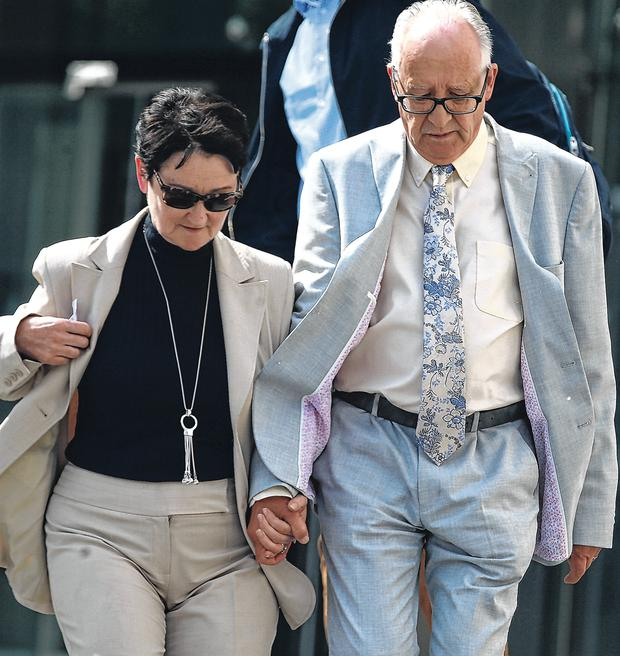 Parents: Patric and Geraldine Kriegel leave court after the two boys accused of their daughter Ana's murder were found guilty. Photo: collins