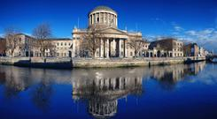 Centre of justice: The Four Courts in Dublin