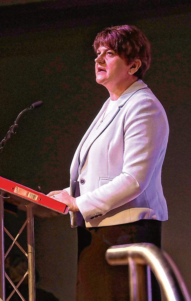 Left behind: DUP leader Arlene Foster's party is expected to lose seats in the UK general election