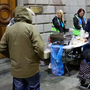 Hard times: Families at The Lending Hand, a soup kitchen feeding up to 300 people every Monday on College Green, Dublin