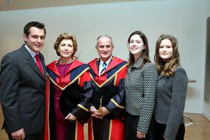Mary McAleese and her husband Martin McAleese, with their children (left to right) Justin, Sarah and Emma.