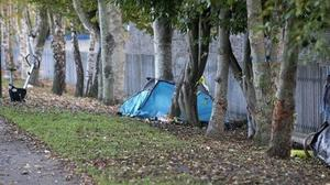 REAL CRISIS: Homeless people sleeping in tents