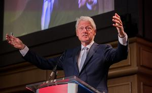 Powerful speaker: With Bill Clinton, people often think of the sex scandal and forget about the intellect of the man, as well as his remarkable ability to captivate an audience. PHOTO: GARETH CHANEY/COLLINS DUBLIN