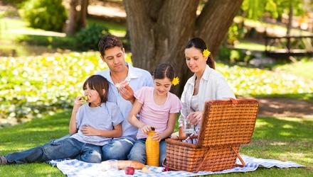 We can look foward to picnicking with friends and family