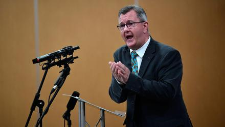 DUP leader Jeffrey Donaldson is playing a high-stakes game. Photo: Charles McQuillan