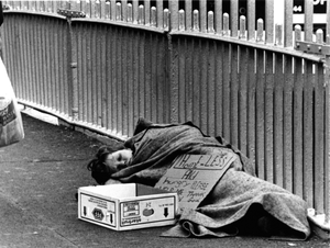 Past becomes the future: A child sleeps on the Ha'penny Bridge in Dublin. Now is the time for our politicians to pay heed to children