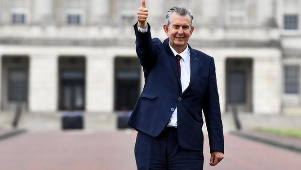 Top man: Edwin Poots, the new DUP leader, appears hostile to the Republic - but it may not be all bad news. Photo: Clodagh Kilcoyne