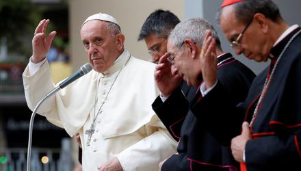 Pope Francis appears to be a more progressive pontiff but he has not reformed the Church. Photo: Reuters