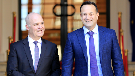 Tirade: Leo Varadkar didn't just disagree with Nphet's advice on Claire Byrne Live, he lit a bonfire under it. Pictured, with Dr Tony Holohan. Photo: Gerry Mooney