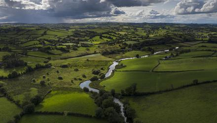 The River Fane tracks the border between Ireland (left) and Northern Ireland (right). Photo: Getty