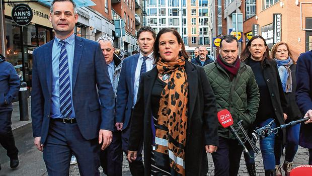 Challenge: Sinn Féin and party leader Mary Lou McDonald will be judged on whether they can deliver a more equal Ireland. Photo: Gareth Chaney/Collins