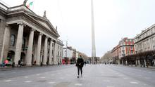 Ghost town: O'Connell Street in Dublin is nothing like the busy hub it was just weeks ago. Photo: Photo: INPHO/ Lorcan Doherty