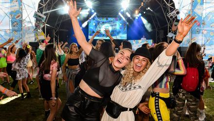 Jessie Morrissey, (left), and Clare O'Gorman enjoy Electric Picnic 2019