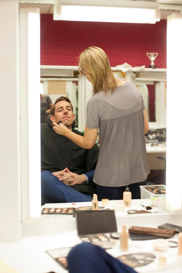 Ryan Tubridy in make-up.