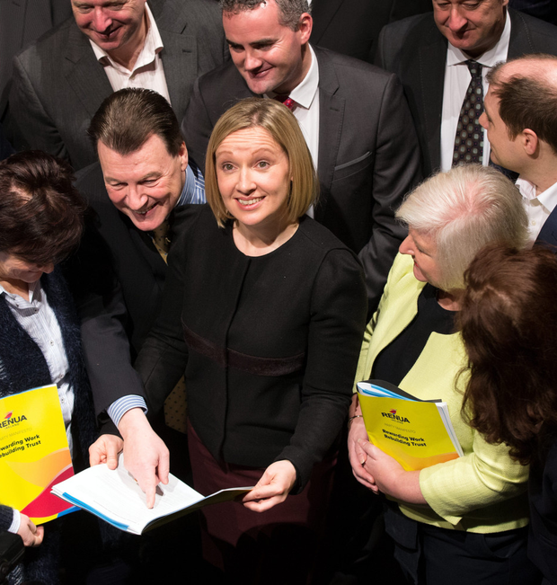Party leader Lucinda Creighton pictured at the launch of the Renua manifesto at Smock Alley Theatre in Dublin earlier this week. Photo: Frank McGrath.