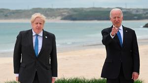 UK Prime Minister Boris Johnson (left) with US President Joe Biden, during the G7 summit in Cornwall. Photo: PA Wire