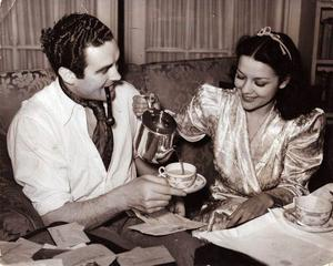 Pride of Cobh: Jack Doyle with his second wife, actress Movita Castaneda