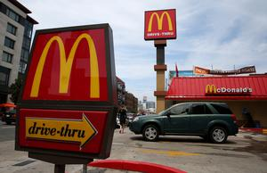 """Some customers hailed the reopening of the McDonald's drive-thru as """"like Christmas"""""""