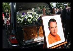 Alan's funeral in Dalkey