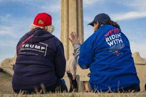 Polarising: No US president since records began has had such consistently high approval ratings among his own party's supporters – and such unfavourable ratings among opposition voters. Photo: Getty