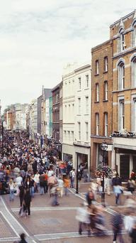 Dublin's Grafton Street: Can we afford to suck millions out of economy at Christmas time?