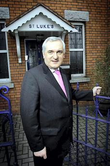 Former Taoiseach Bertie Ahern at his old constituency office