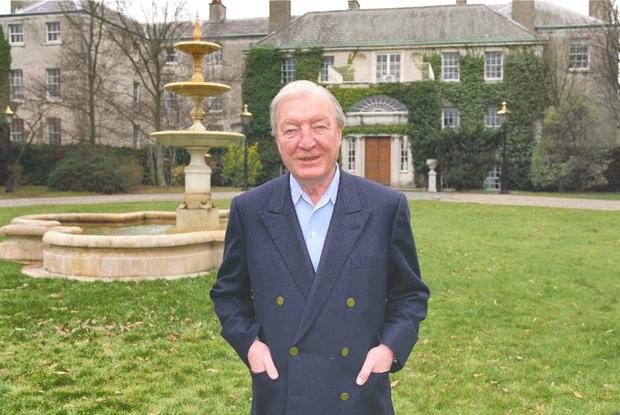 Charlie Haughey at his home, Abbeville.