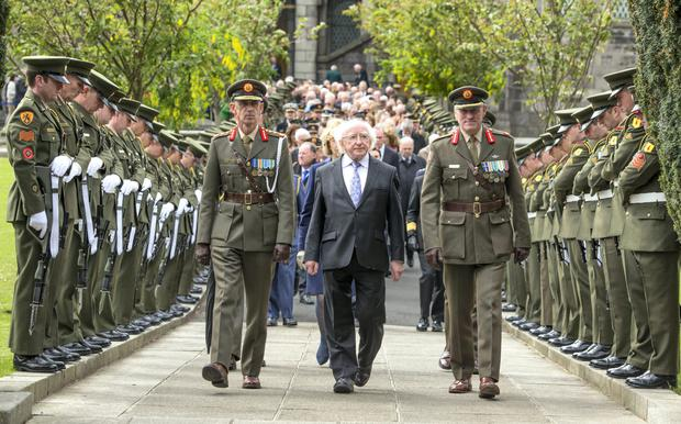 President Higgins commemorating 1916 last year.