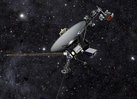 Voyager1 hurtling through space.