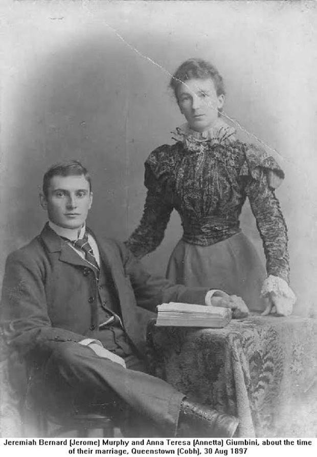 Jerome Murphy and his wife Anna Teresa in 1897