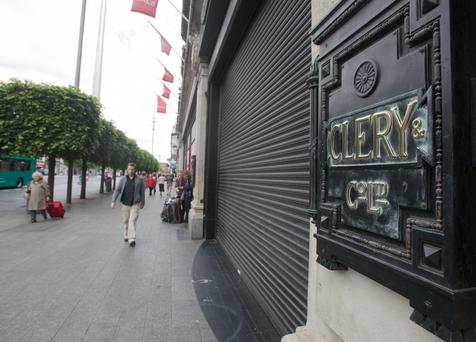 Clerys on O'Connell Street, Dublin, which closed its doors on Friday