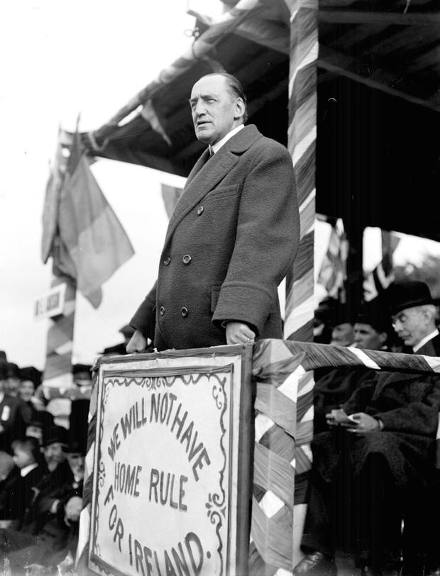 Edward Carson believed that Irish Catholics would only ever be loyal to the Pope in Rome'