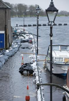 Flooding in Athlone in December 2015. Photo: Fergal Phillips