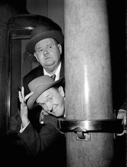 Iconic double act Laurel and Hardy. Photo: PA