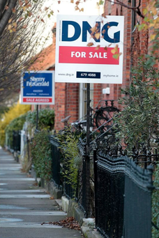 For Sale signs near the South Circular Road in Dublin.