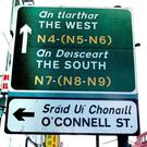 Road signs in both Irish and English. Picture by Donal Doherty