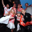Polish fans in Dublin ahead of an Ireland v Poland soccer match in 2015. Links between the two nations date back to at least 1693, when a Kerryman became personal physician to the king of Poland. Photo: Caroline Quinn