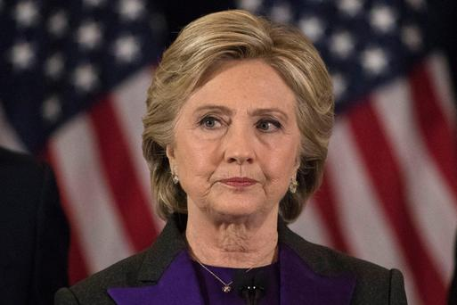 Hillary Clinton lost out in the US election to Donald Trump, for whom 50pc of American white women voted, despite his controversial opinions. Photo: AP