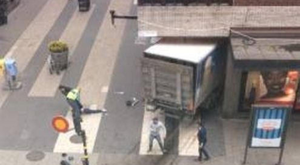 The truck in the Stockholm attack drove through busy shopping streets