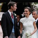 Charming: Pippa Middleton and her husband James Matthews. Photo: PA
