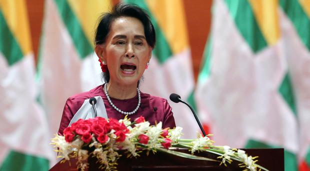 Aung San Suu Kyi has faced criticism for her handling of the crisis. AP Photo.