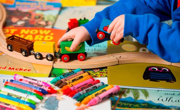 Researchers found that youngsters were far more creative when they had fewer toys to play with. (Stock picture)