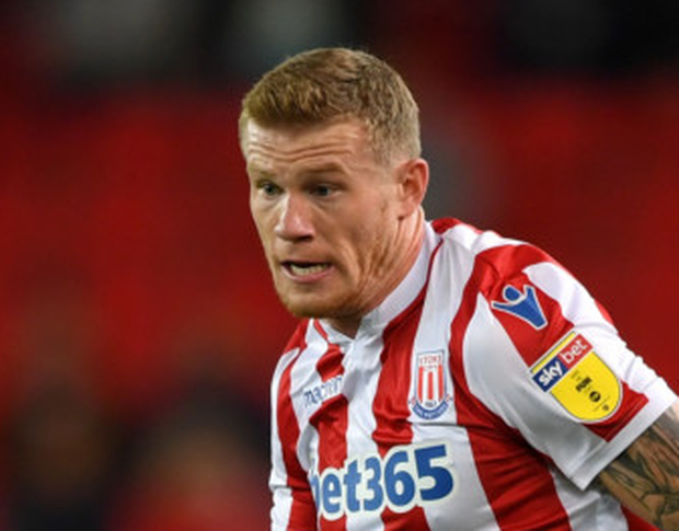 Stoke City's James McClean. Photo: Getty